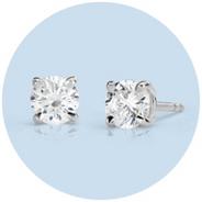 Puces d'oreilles en diamant