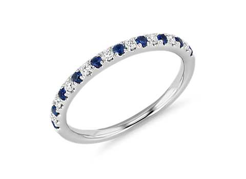 Top ten womens wedding rings blue nile riviera pav sapphire and diamond ring in 14k white gold 15mm junglespirit Image collections