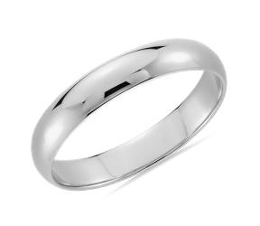 Alianza de bodas de platino para hombre