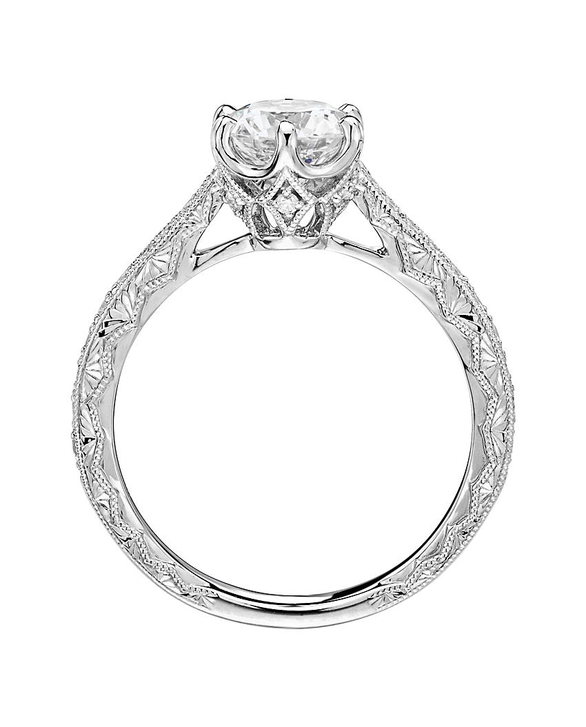 A diamond engagement ring with halo setting
