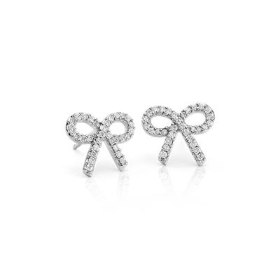 Diamond Bow Earrings