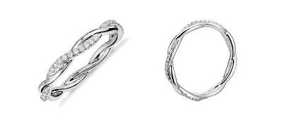 Petite Twist Diamond Eternity Ring in 14k White Gold (1/5 ct. tw.)