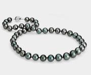 18k 白金大溪地珍珠链