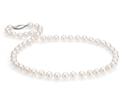 Classic Akoya Pearl Strands with 18k White or Yellow Gold