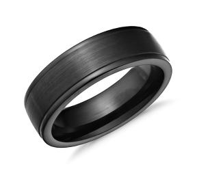 Alianza de bodas de cobalto para hombre