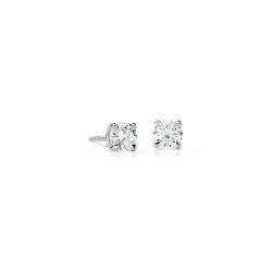 Puces d'oreilles en diamant en or blanc 18carats