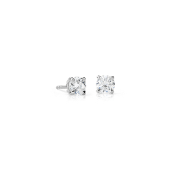 Puces d'oreille diamant canadien en or blanc 18 carats