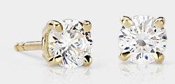 Diamond Stud Earrings in 18k Gold