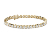 Bracelet tennis diamants en or jaune 18 carats