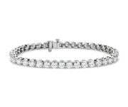 Bracelet tennis diamants en or blanc 14 carats