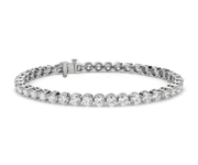 Bracelet tennis diamants en or blanc 18 carats