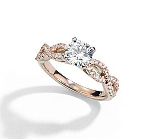 start with a setting - Blue Wedding Ring