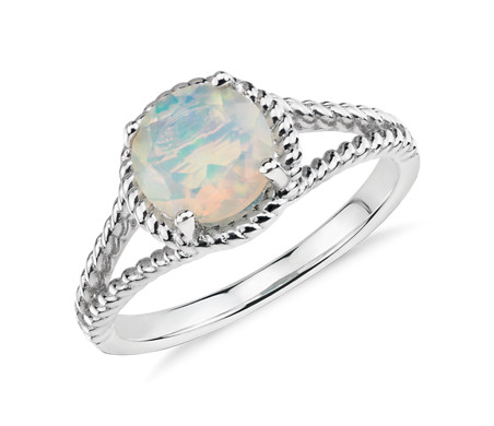 Opal Rope Ring