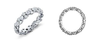 鉑金 花環鑽石永恆戒指<br>( 2.5 克拉總重量)