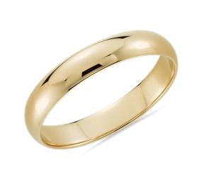 男士金结婚戒指
