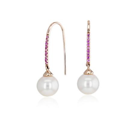 Freshwater Cultured Pearl Threader Earrings