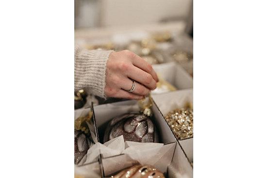 Petite Twist Diamond Eternity Ring in 14k White Gold and Riviera Pave Diamond Eternity Ring in 14k Rose Gold