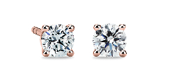 Classic Stud Earrings in 14k Rose Gold