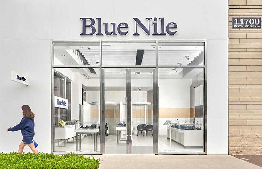 The exterior of a Blue Nile showroom