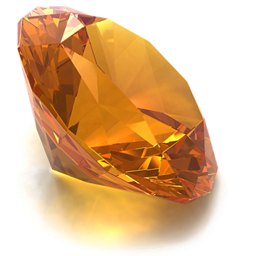 Round Citrine gemstone