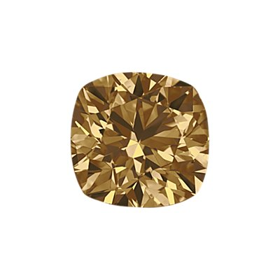 0.28-Carat Brown Cushion Cut Diamond