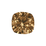 Cushion shape diamond with a intense brown color