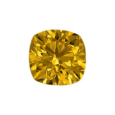 0,40-Carat Deep Yellow Cushion Cut Diamond
