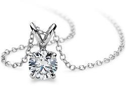 Diamond Solitaire Pendants in Platinum