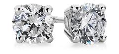 Aretes de diamantes