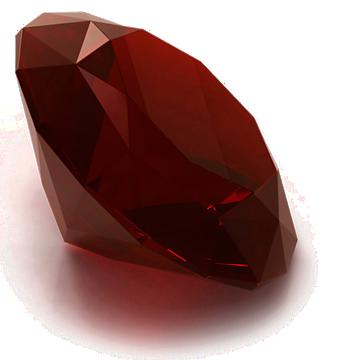 Round Garnet gemstone