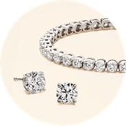 Assorted diamond jewellery
