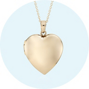 A heart-shaped locket