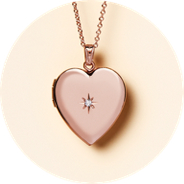 A locket necklace