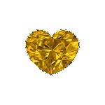 Diamant forme Cœur avec une couleur jaune foncé