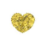 Diamant forme Cœur avec une couleur jaune fantaisie