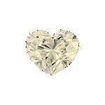 Diamant forme Cœur avec une couleur jaune pâle