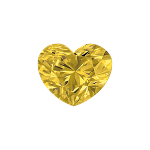 Diamant forme Cœur sélectionné avec une couleur jaune intense