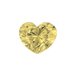Diamant forme Cœur avec une couleur jaune clair
