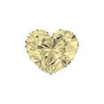 Diamant forme Cœur avec une couleur jaune très clair