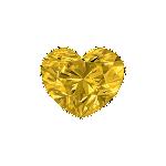 Diamant forme Cœur avec une couleur jaune vif