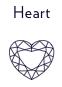 Diamantes con forma de corazón