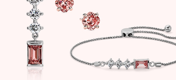 Lab-Grown Pink Diamond Jewellery.