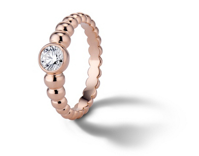 Lola Fenhirst 'The Union' Bezel-Set Diamond Engagement Ring in 18k Rose Gold