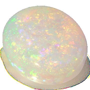 Rounded Opal gemstone