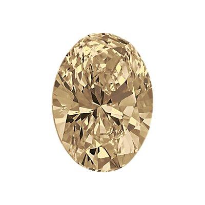 0.92-Carat Light Brown Oval Cut Diamond