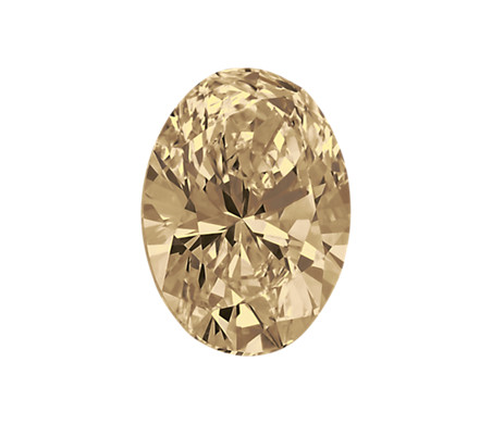 0.29-Carat Light Brown Oval Diamond by Blue Nile