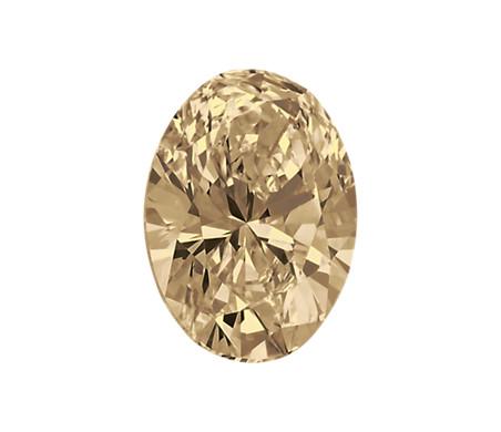 0.29-Carat Light Brown Oval Diamond by Blue Nile