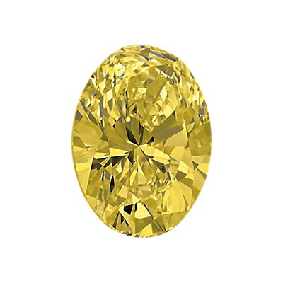 0,39-Carat Yellow Oval Cut Diamond