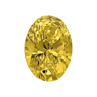 0.50-Carat Intense Yellow Oval Cut Diamond