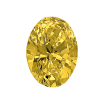 Oval shape diamond with a intense yellow colour